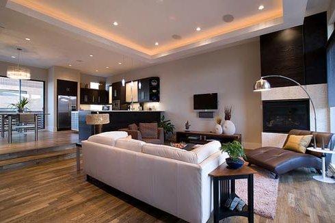 Reforma de viviendas con salon moderno en Zaragoza